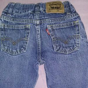 Levis 514 blue jeans 3T.